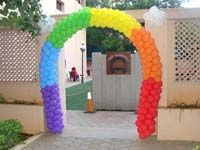 Rainbow theme Single multi color arch